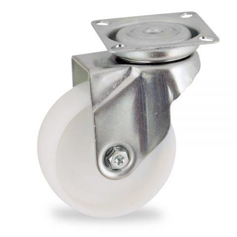 Stahlblech lenkrolle 50mm für lichtwagen,rader aus polyamid,gleitlager.Montage mit platte
