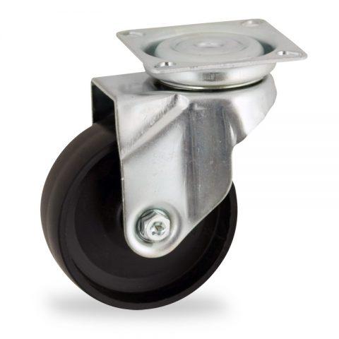 Stahlblech lenkrolle 125mm für lichtwagen,rader aus polypropylen,gleitlager.Montage mit platte
