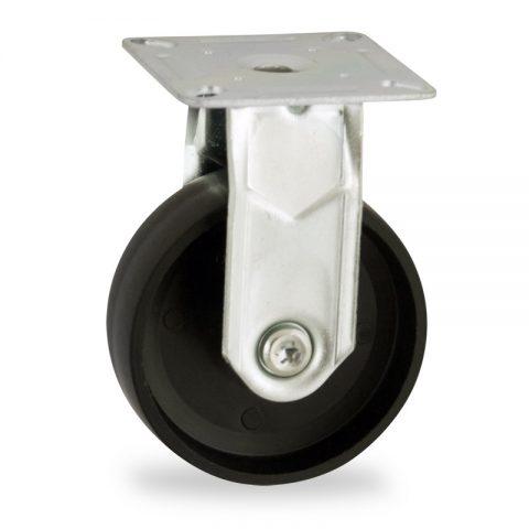 Stahlblech bockrolle 50mm für lichtwagen,rader aus polypropylen,gleitlager.Montage mit platte