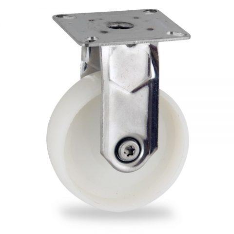 Edelstahl bockrolle 75mm für lichtwagen,rader aus polyamid,gleitlager.Montage mit platte