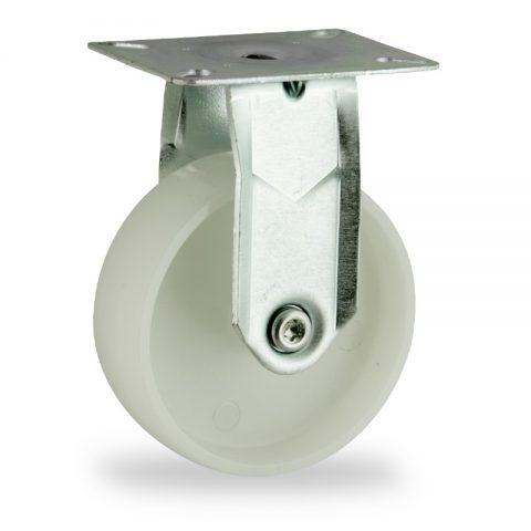 Stahlblech bockrolle 150mm für lichtwagen,rader aus polyamid,gleitlager.Montage mit platte
