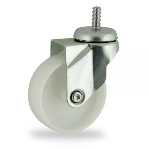 Stahlblech lenkrolle 100mm für lichtwagen,rader aus polyamid,gleitlager.Montage mit gewindestift