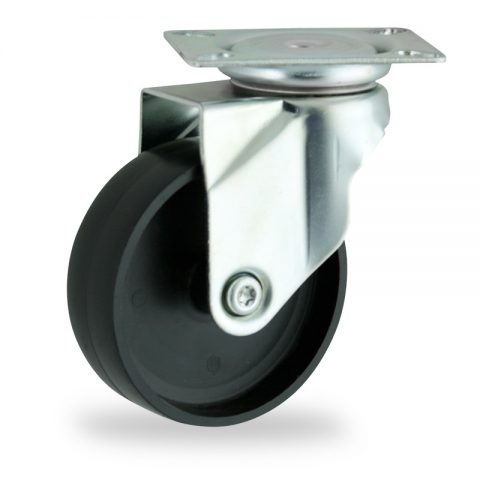 Stahlblech lenkrolle 150mm für lichtwagen,rader aus polypropylen,gleitlager.Montage mit platte