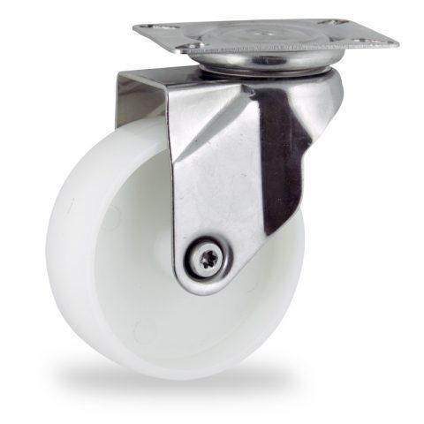 Edelstahl lenkrolle 125mm für lichtwagen,rader aus polyamid,gleitlager.Montage mit platte