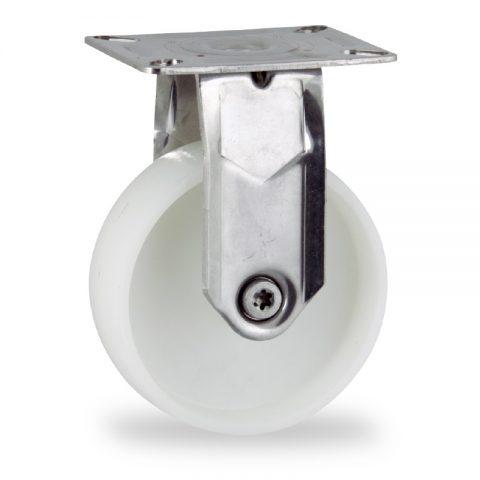 Edelstahl bockrolle 125mm für lichtwagen,rader aus polyamid,gleitlager.Montage mit platte