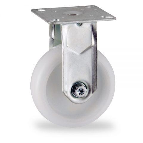 Stahlblech bockrolle 75mm für lichtwagen,rader aus polyamid,gleitlager.Montage mit platte