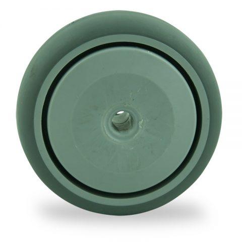 Rader 75mm für lichtwagen aus grau thermoplasticher gummi,prazisionskugellager